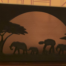 Picture of print of Star Wars Silhouette ornament