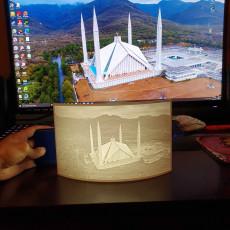 Faisal Masjid Lithophane