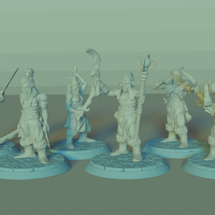 Orc Horde Set, 9 Miniatures, Dungeons and Dragons !FREE!