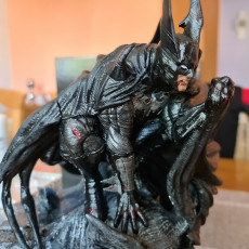 Picture of print of Batman 3d sculpture tested and ready for printing by B3DSERK Studios