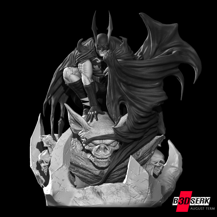 Batman 3d sculpture tested and ready for printing by B3DSERK Studios