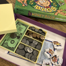 Money Bags Board Game Money Tray