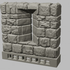 OpenForge Dungeon Stone Separate Wall Arrow Slits
