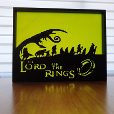 Lord of the Rings silhouette art
