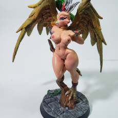 Picture of print of Gryphinia the Enchantress - Eye-Cult Gryphkin Beauty (Fantasy Pinup)