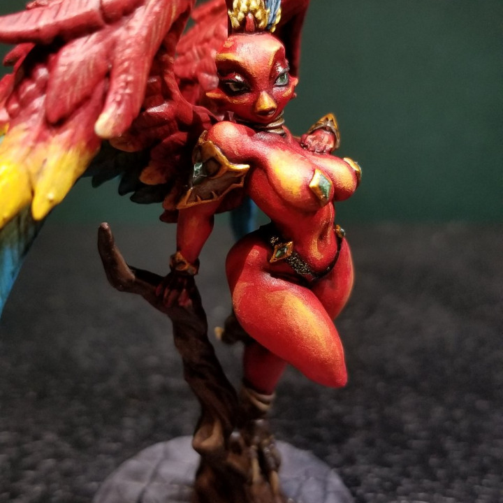 Gryphinia the Enchantress - Eye-Cult Gryphkin Beauty (Fantasy Pinup)