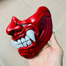 Picture of print of Face Mask - Samurai Mask - Halloween Costume Cosplay 这个打印已上传 Bstar3Dprint