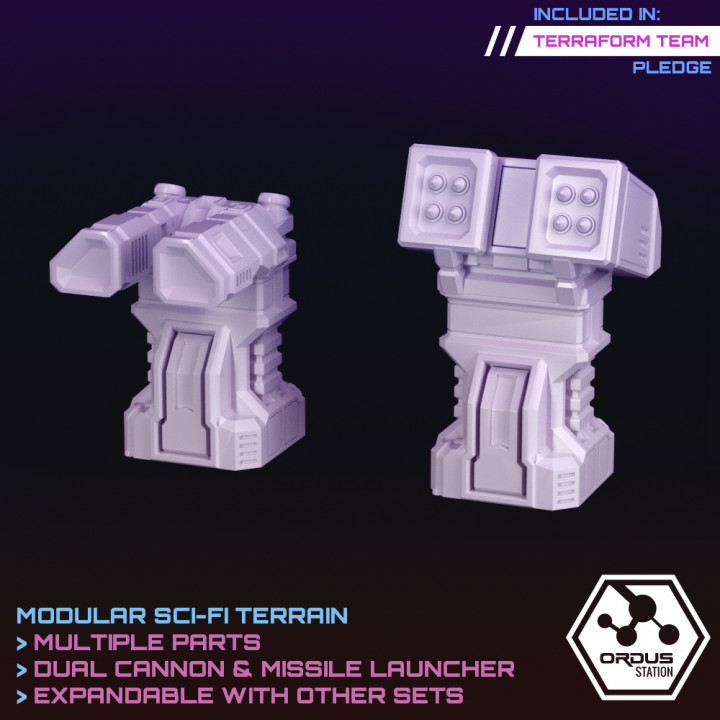 Turrets: Missile Launcher & Dual Cannon (Orbital Defences)'s Cover