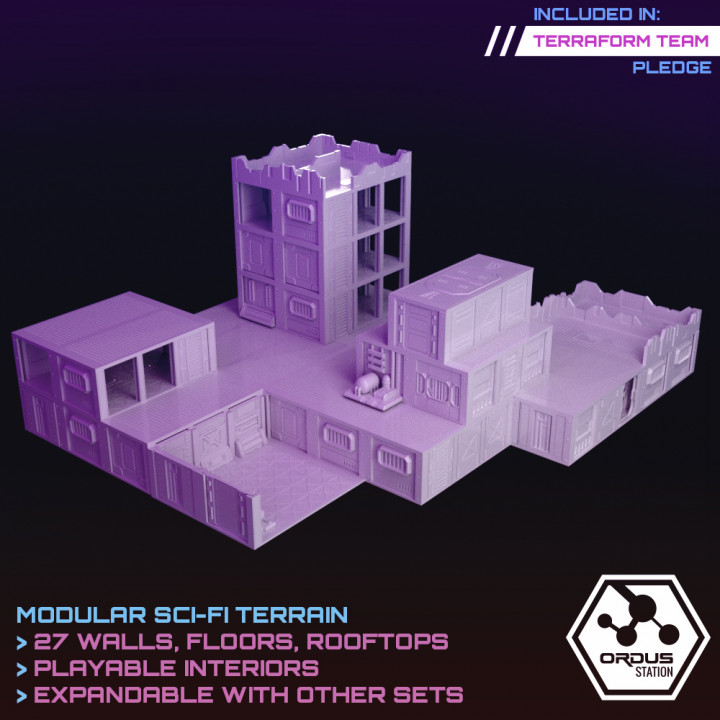 Ordus Station - Modular Scifi Interiors (Structure Upgrade Set)'s Cover