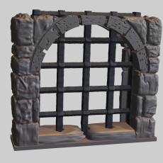 OpenForge Dungeon Stone Separate Wall Portcullis