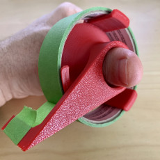 24 mm masking tape dispenser with magnetsic mount and finger hole