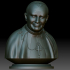 Pope John Paul II portrait 3d model STL file printable image