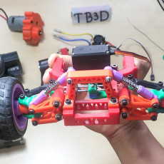 The front axle of the Buggy car