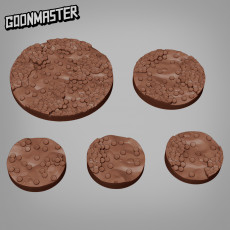 Coin Pile Bases - 25mm, 35mm and 50mm