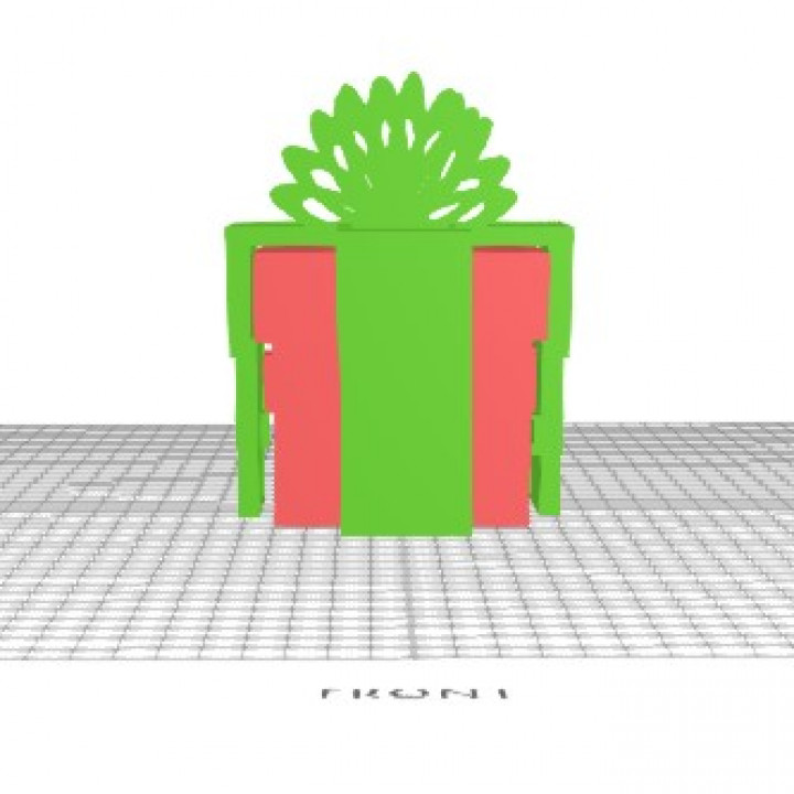 Lockable Christmas Present Box Designed In Selfcad