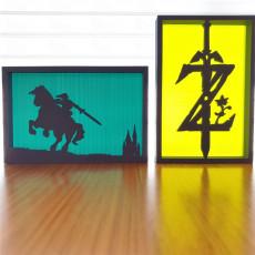 Zelda silhouette ornaments