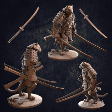 Tengashi Catfolk Samurai - Presupported