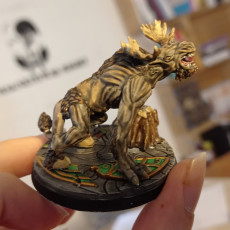 Picture of print of Fantasy forest beast