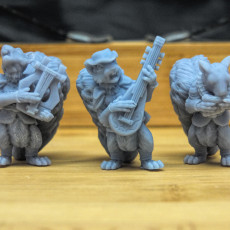 Anthropomorphic animal folk sculpts