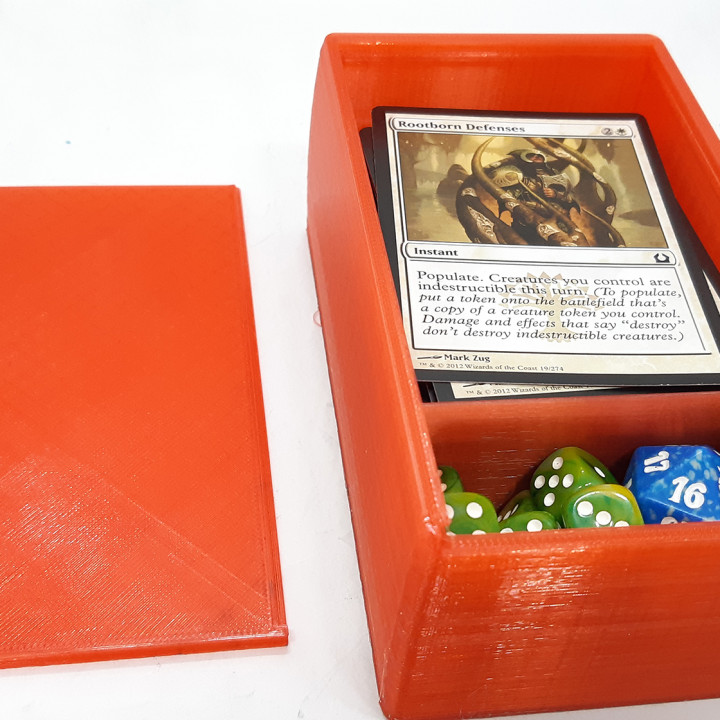 Durable Sliding Lid Deckbox for M:TG, Pokemon, TCGs