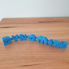 BTS Dynamite flexi ornament