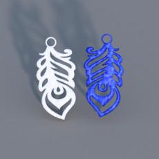 Feather earrings set (two models)