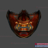 Japanese Samurai Oni Mask - Cosplay Halloween Helmet image