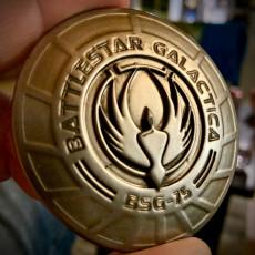 Battlestar Galactica Challenge Coin