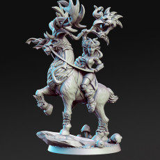 Bronwin - Forest Queen with Deer - 32mm - DnD -