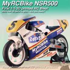 MyRCBike NSR500, First 1/5 3D Printed Hobby Level RC Bike