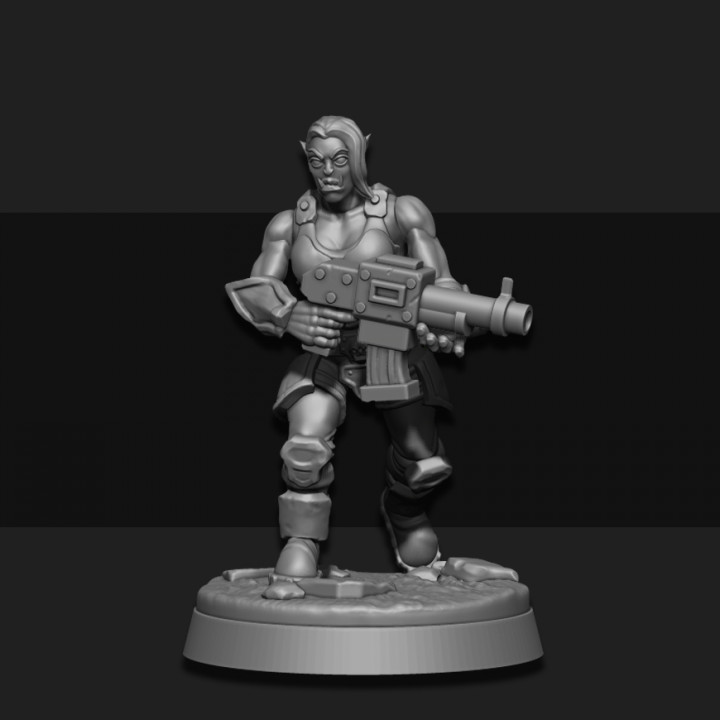 3d Printable Female Orc Veteran 05 By Sarks Foundry Someone start a campaign that's just all orc ladies and then commission me to draw the whole thing. female orc veteran 05