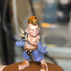 Picture of print of Bingo Whackins, Chaotic Halfling Fantasy Football Player