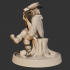"""KICKSTARTER FREE ''Halfling Bard"""" Presupported 3D Model image"""