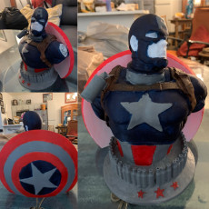 Picture of print of Wicked Marvel Avengers Captain America 3d Bust: STL ready for printing FREE