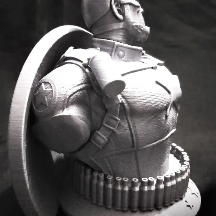 Wicked Marvel Avengers Captain America 3d Bust: STL ready for printing FREE
