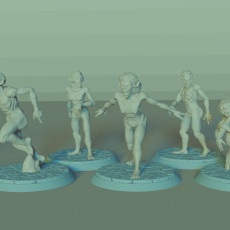 Vampire Spawn Set, 5 Miniatures, Dungeons and Dragons !FREE!