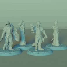 Vampire Lords and Ladies Set, 4 Miniatures, Dungeons and Dragons !FREE!