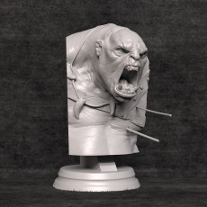 Orc Berserker Bust - Presupported