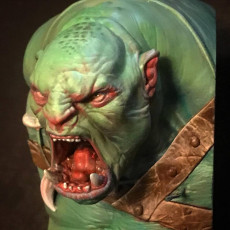 Picture of print of Orc Berserker Bust - Presupported