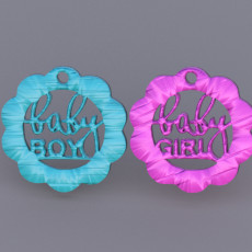 Babyshower earrings (two files!)
