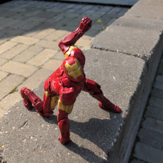 Picture of print of Iron Man MK42 - Super Hero Landing Pose Support Free Remix