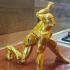 Iron Man MK42 - Super Hero Landing Pose Support Free Remix print image