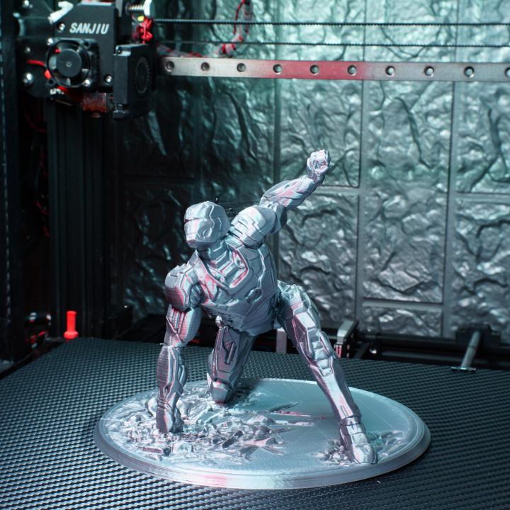 Iron Man MK42 - Super Hero Landing Pose Support Free Remix