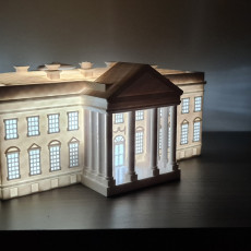 Picture of print of The White House (Lamp) - USA