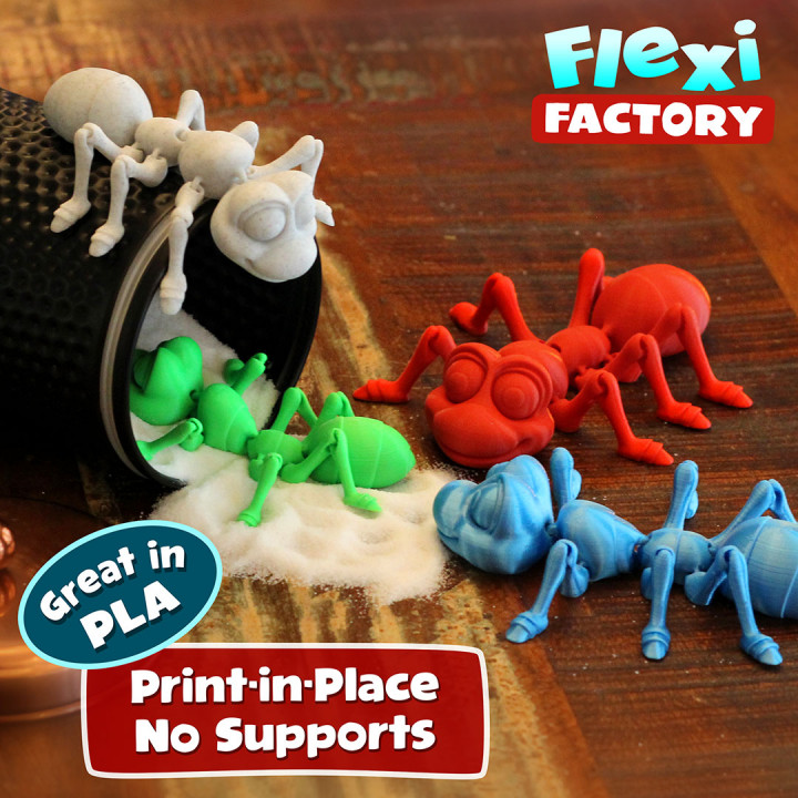 Cute Flexi Print-in-Place Ant