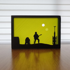 Star Wars Tatooine silhouette ornament