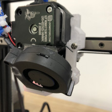 Prusa Style Fanduct mount for Printer Mods MDD+BMG+v6