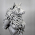 Oleana the Werewolf Queen bust pre-supported print image