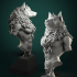 Oleana the Werewolf Queen bust pre-supported image