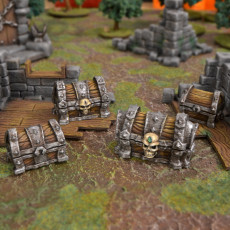 Dungeon Chests, Set of four